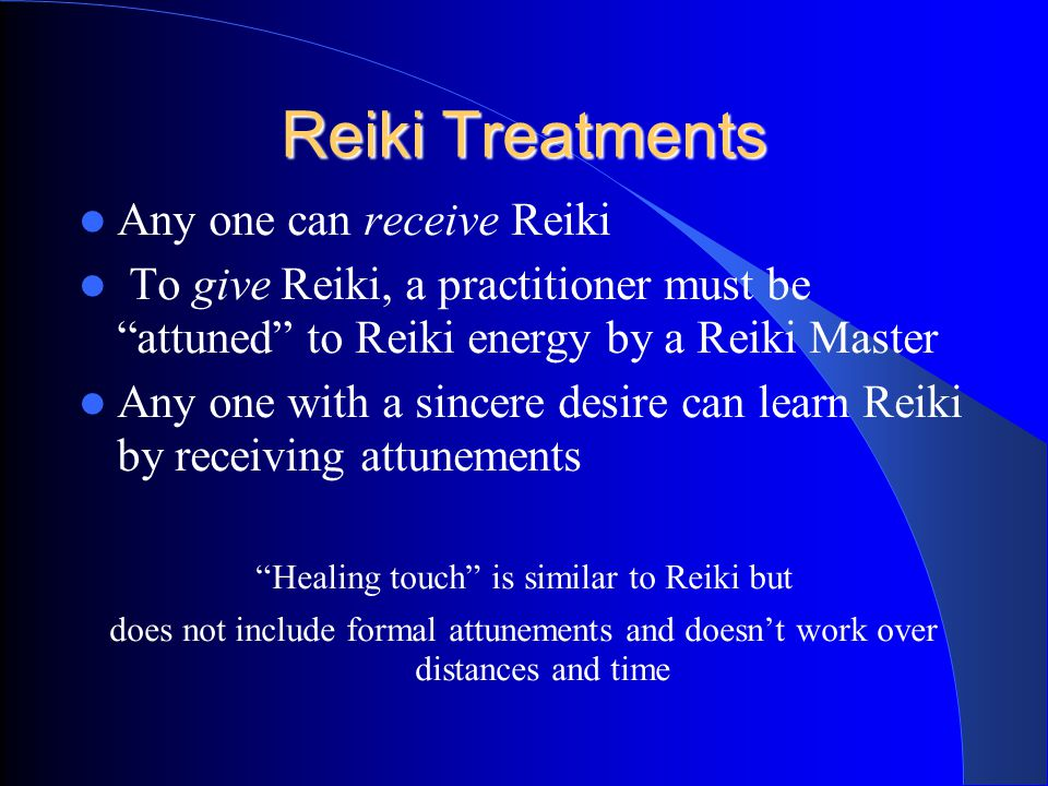 The Ethical Principles of Reiki Just for today, do not worry. Just for today, do not anger. Honor your parents, teachers, and elders. Earn your living
