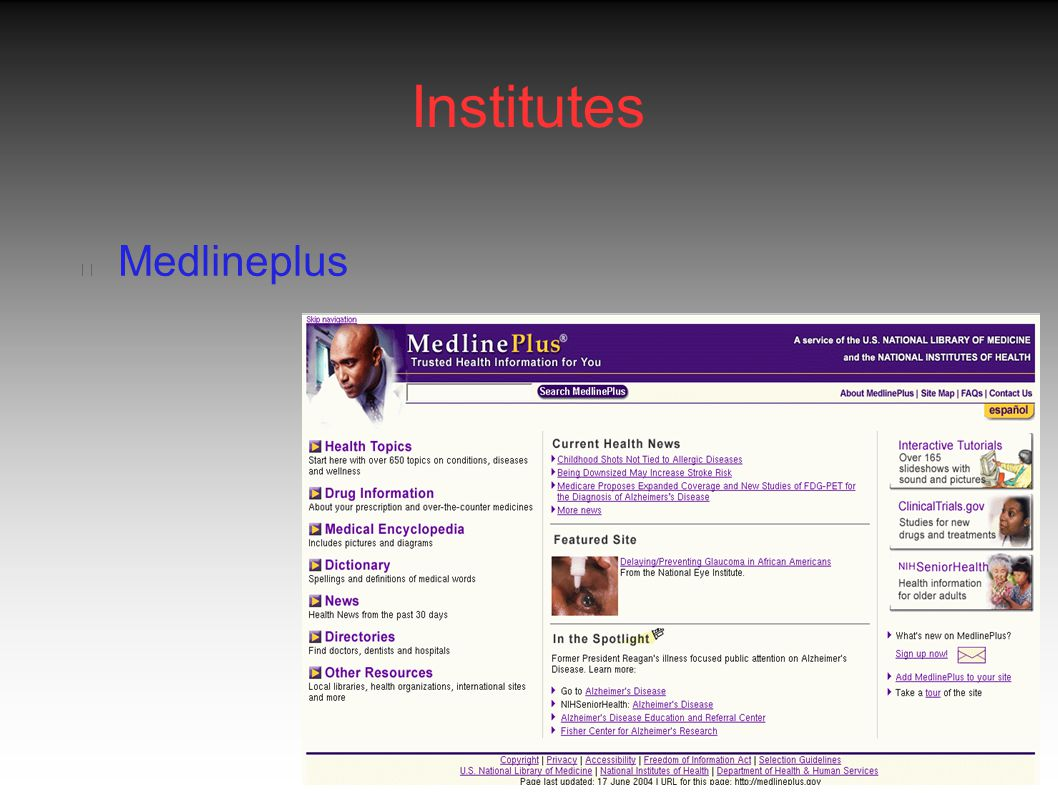 Institutes Medlineplus