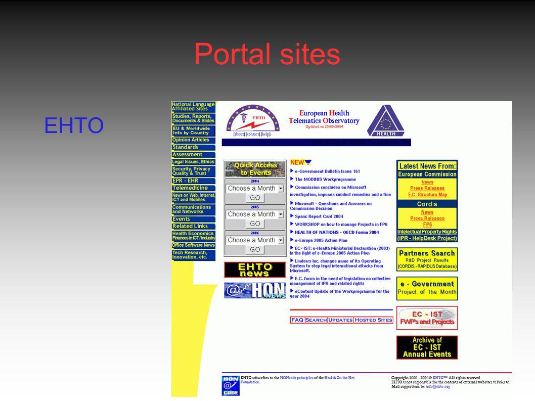Portal sites EHTO