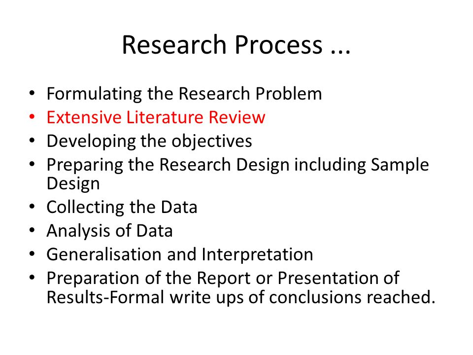 Research Process...