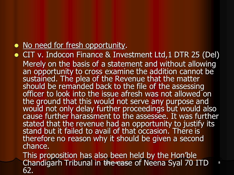 Ajat Wadhwa, FCA 8 No need for fresh opportunity. No need for fresh opportunity.