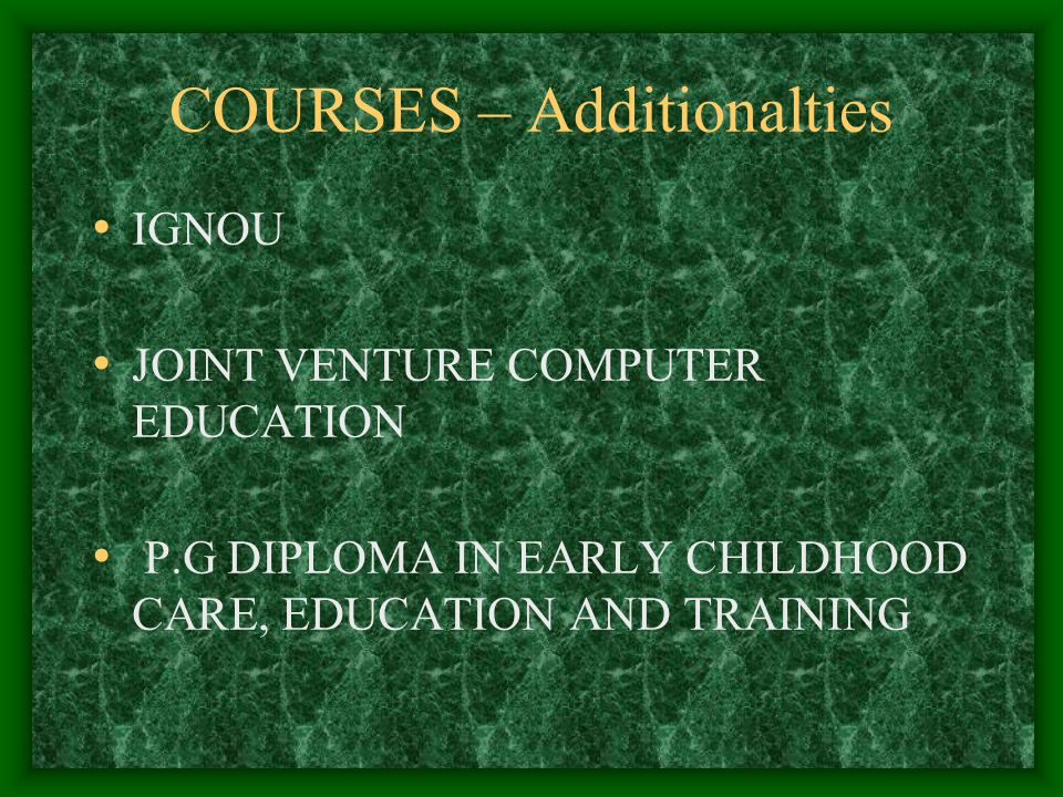 Proposed self-financing courses - Adventure in job oriented progamme P.G.