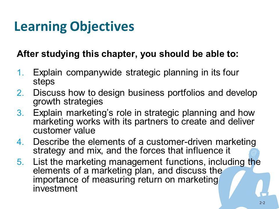 2-43 Marketing Department Organization Functional Geographic Product Market or customer management Managing the Marketing Effort