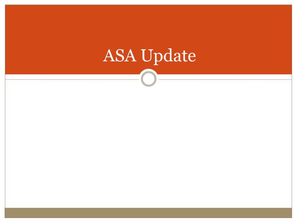 ASA Update