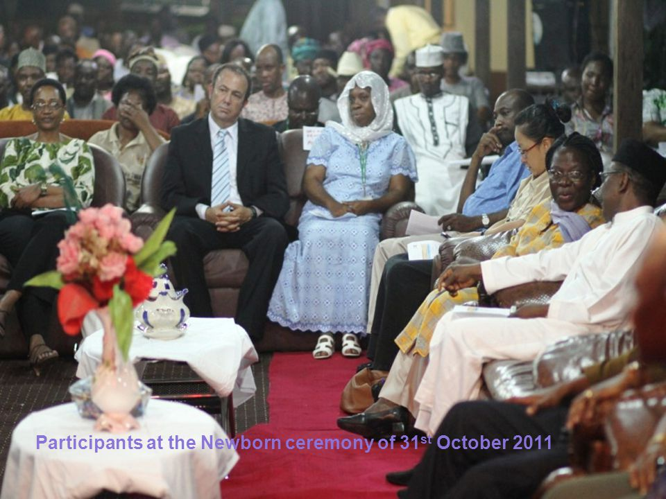 Participants at the Newborn ceremony of 31 st October 2011