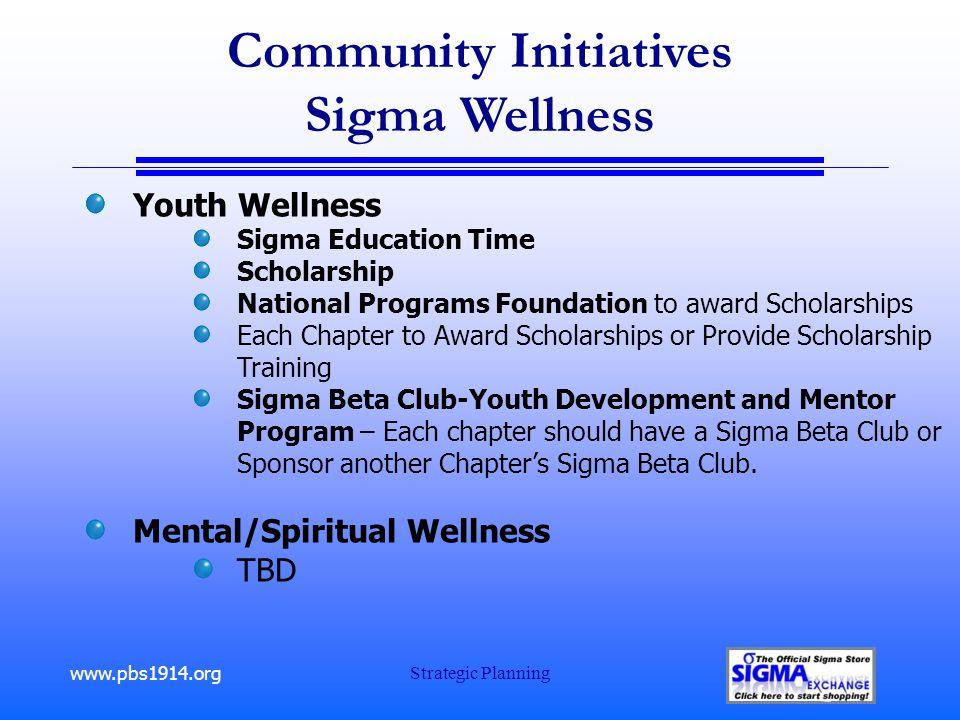 www.pbs1914.org Strategic Planning Community Initiatives Sigma Wellness Youth Wellness Sigma Education Time Scholarship National Programs Foundation t