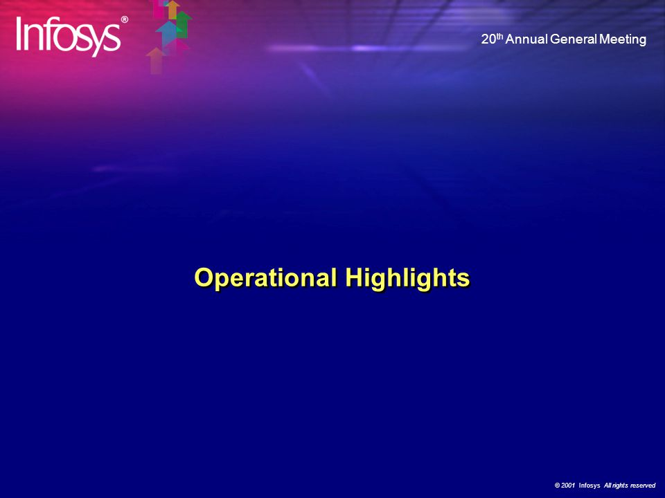 "© 2001 Infosys All rights reserved 20 th Annual General Meeting ""IT-led-Business Transformation"" Customer Value Proposition Domain Competency Business"