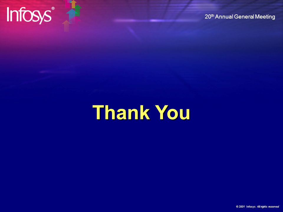 © 2001 Infosys All rights reserved 20 th Annual General Meeting What Our Customers Say…