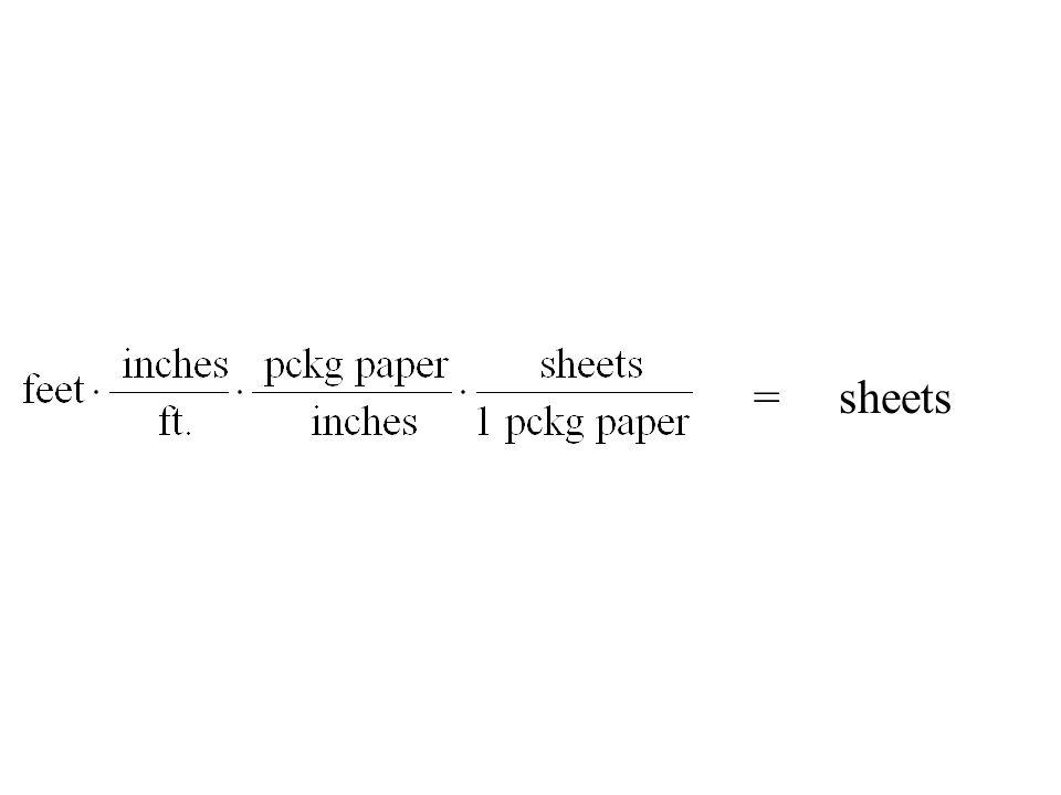 = sheets