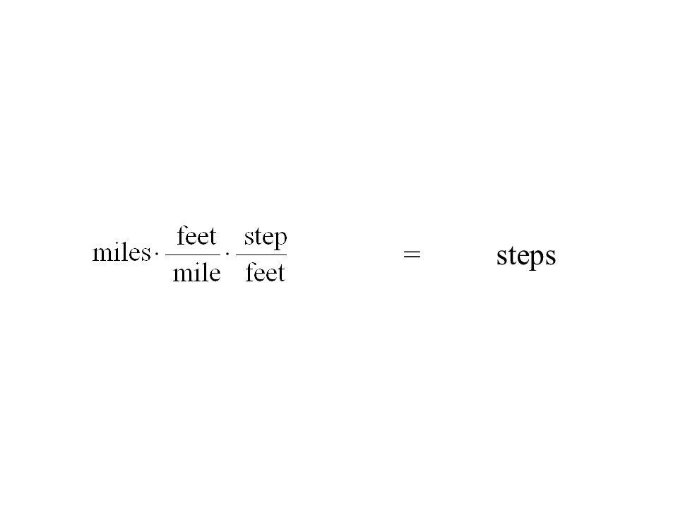 = steps