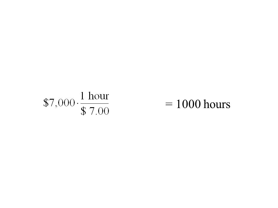 = 1000 hours