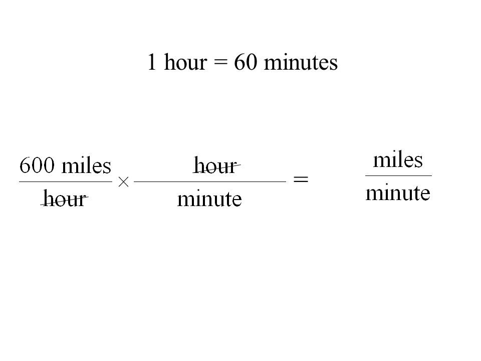 = 1 hour = 60 minutes
