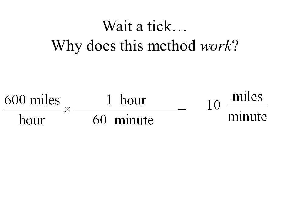 = Wait a tick… Why does this method work