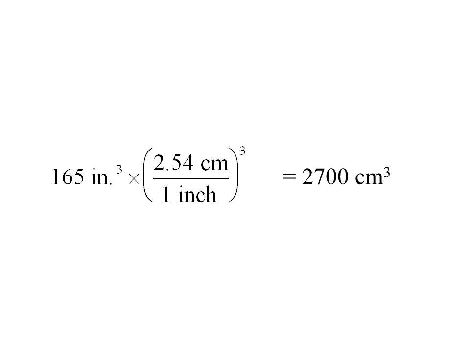 = 2700 cm 3