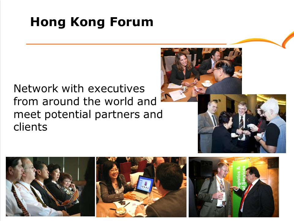 Hong Kong Forum Network with executives from around the world and meet potential partners and clients