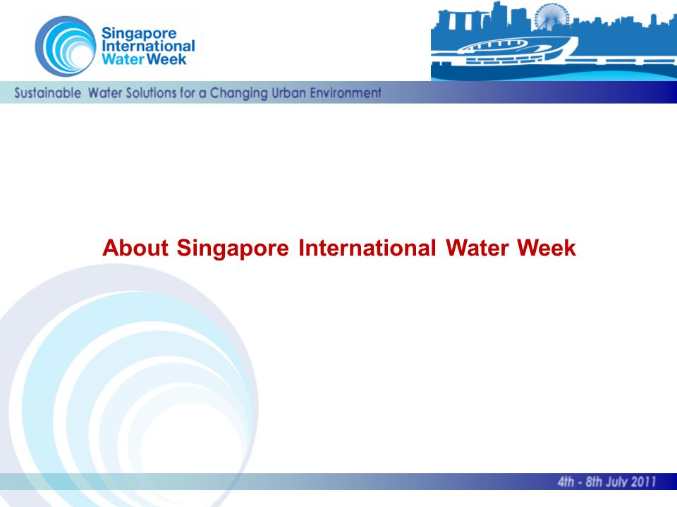 About Singapore International Water Week