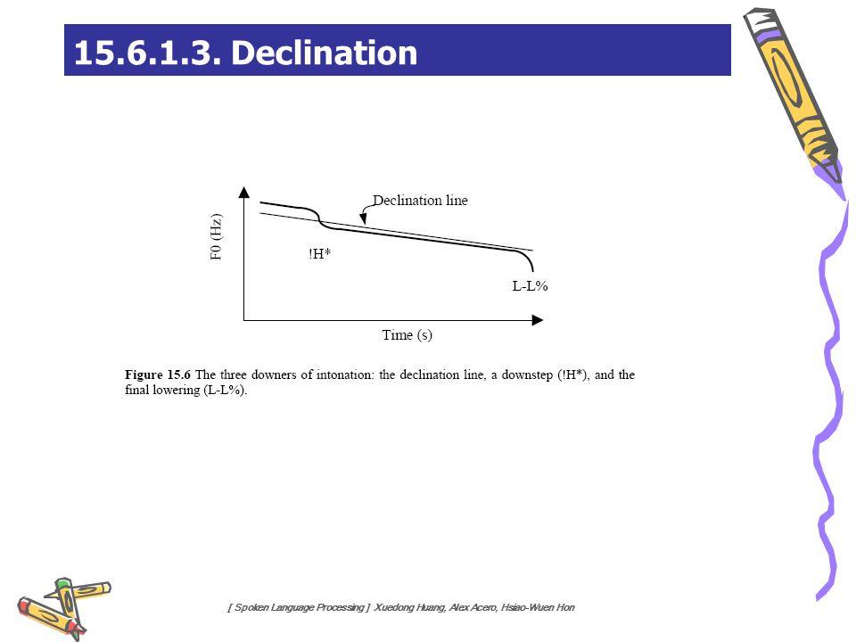 [ Spoken Language Processing ] Xuedong Huang, Alex Acero, Hsiao-Wuen Hon 15.6.1.3. Declination