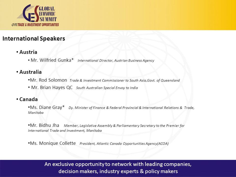 International Speakers Austria Mr.