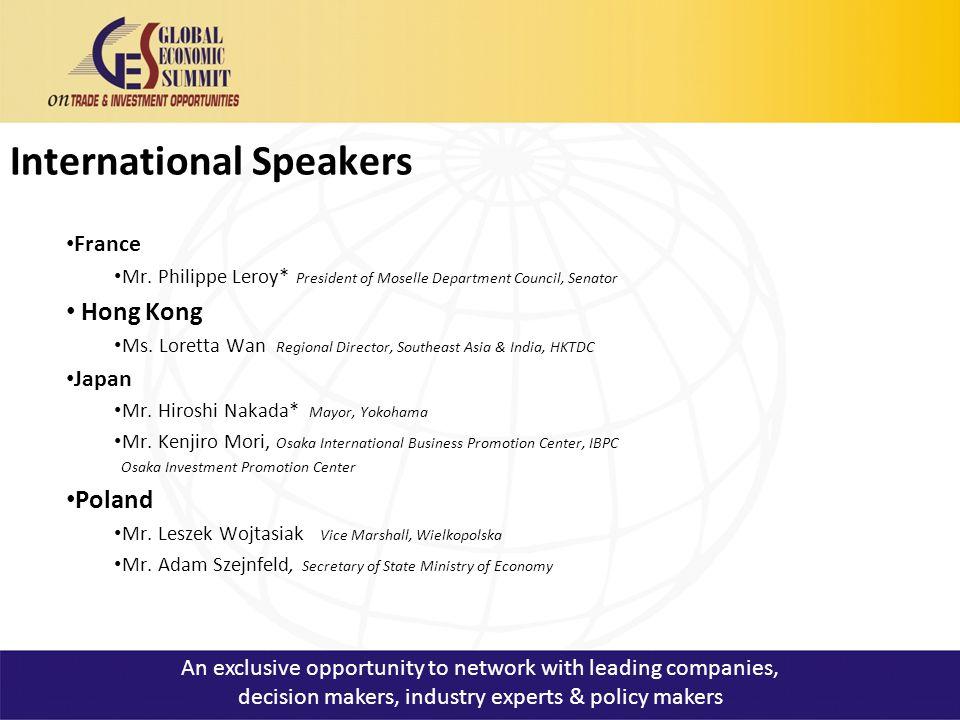 International Speakers France Mr.