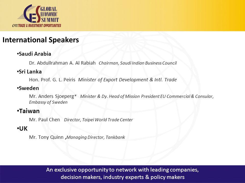 International Speakers Saudi Arabia Dr. Abdullrahman A.