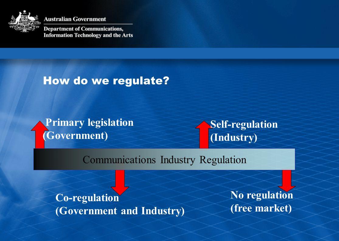 How do we regulate.