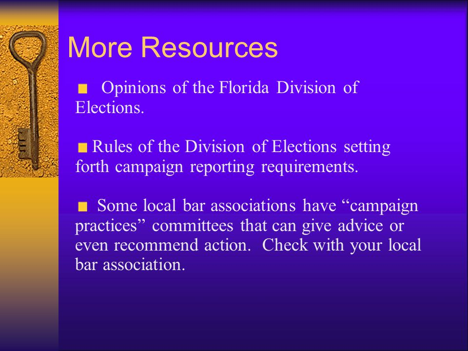 Other Ethics Resources  Florida Supreme Court opinions relating to the Code of Judicial Conduct.