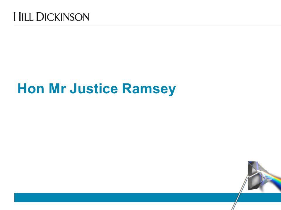 Hon Mr Justice Ramsey