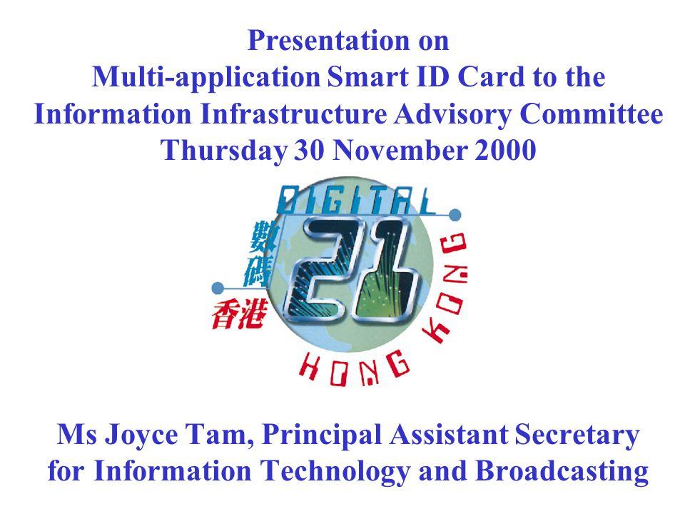 Multi-application Smart ID Card Scheme 2 FONG, Ching Ming 2455 0339 2494 出生日期 Date of Birth 女 F 17-08-1965 Z-A-B-C 簽發日期 Date of Issue 19-10-2000 (02-00) 方充明
