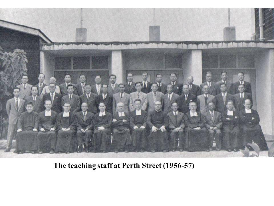 The teaching staff at Perth Street (1956-57)