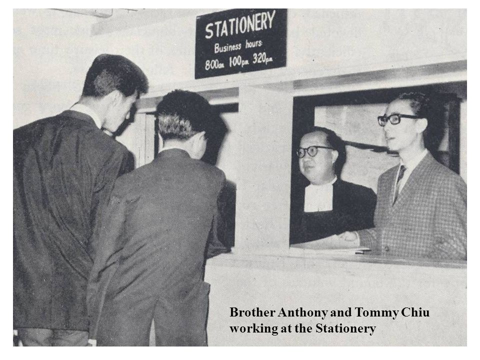 Brother Anthony and Tommy Chiu working at the Stationery