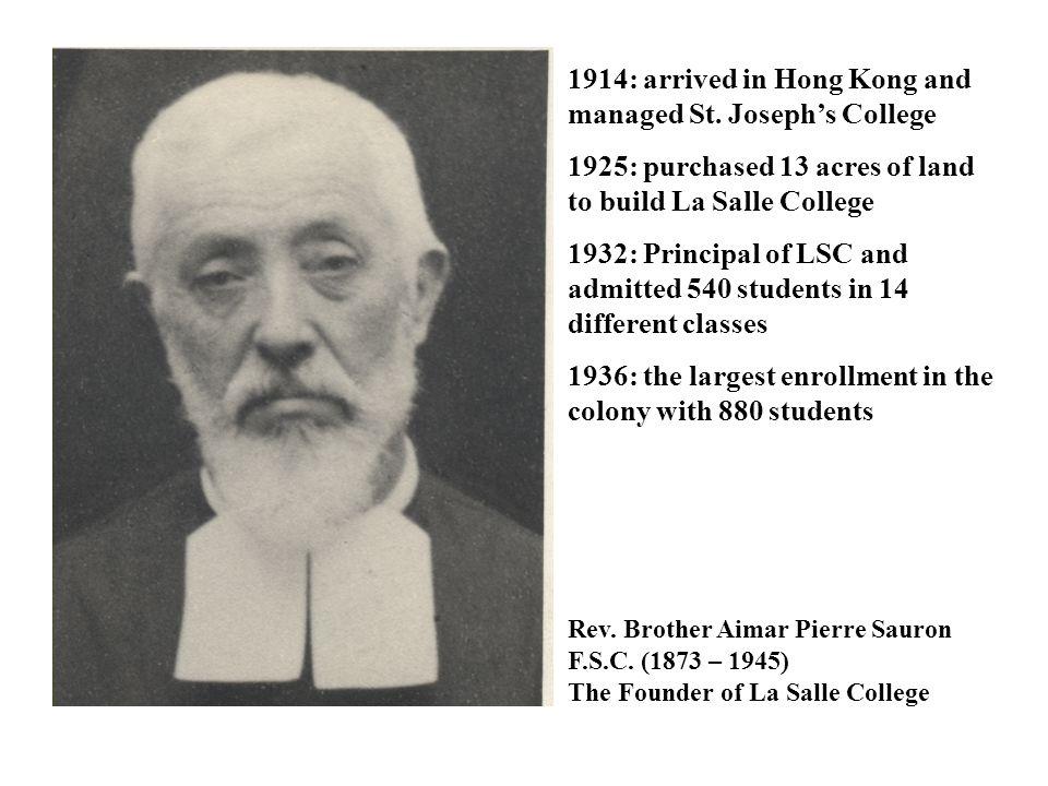 Rev. Brother Mark Blake F.S.C. (1931 – now)