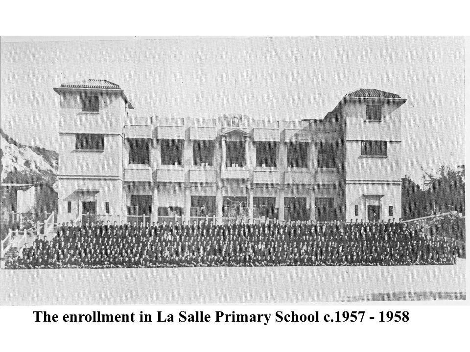 The enrollment in La Salle Primary School c.1957 - 1958