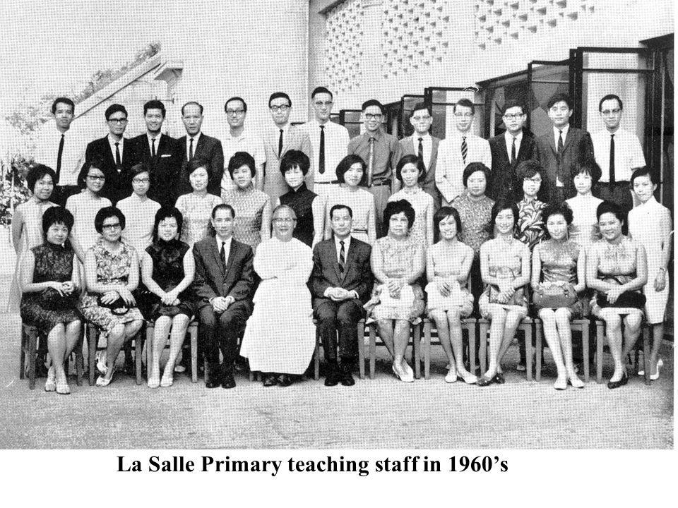 La Salle Primary teaching staff in 1960's