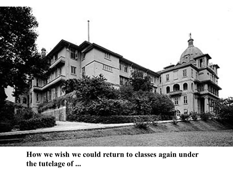 How we wish we could return to classes again under the tutelage of...