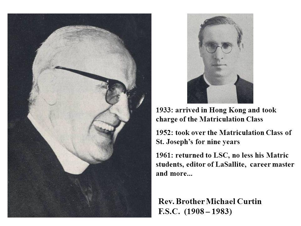 Principals of La Salle College Hong Kong Rev.