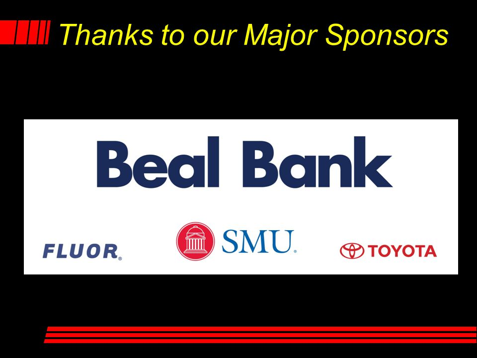 Thanks to our Major Sponsors