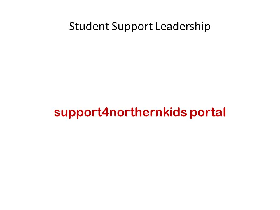 support4northernkids portal
