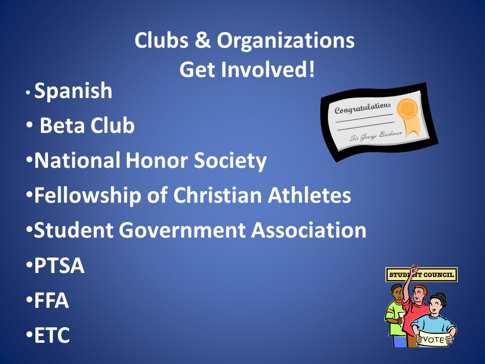 Clubs & Organizations Get Involved.