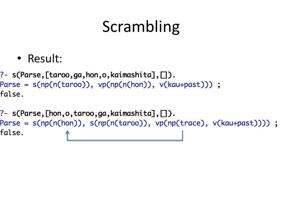 Scrambling Result: