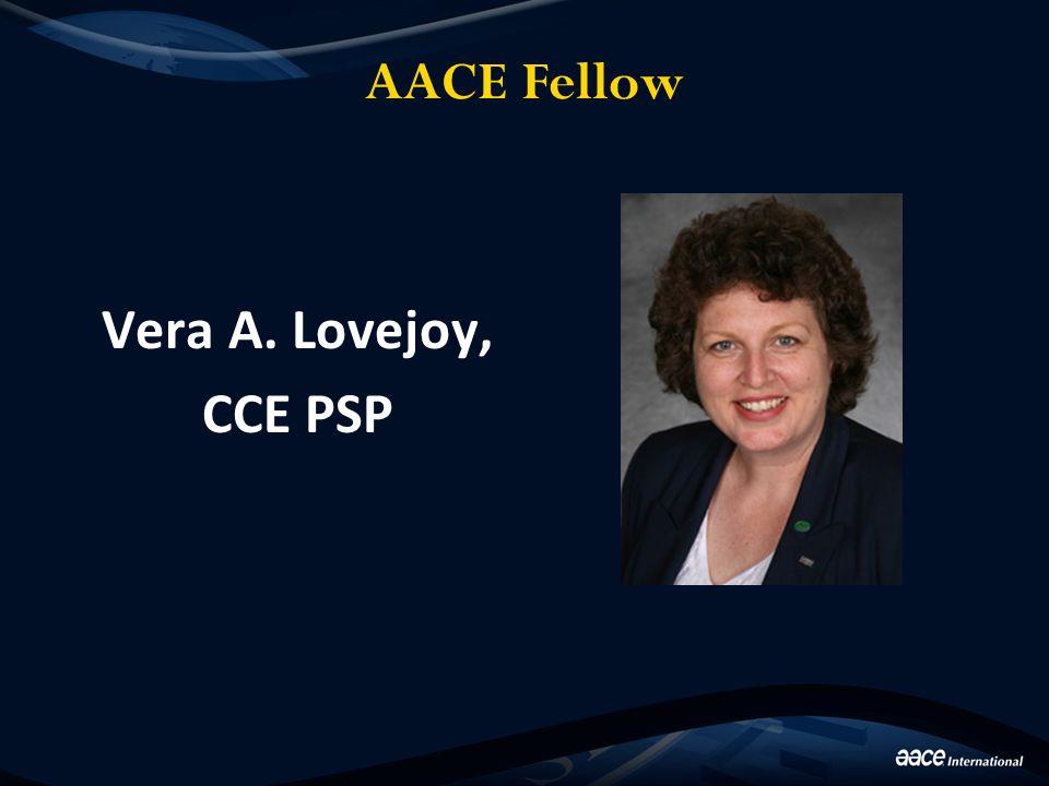 AACE Fellow Vera A. Lovejoy, CCE PSP