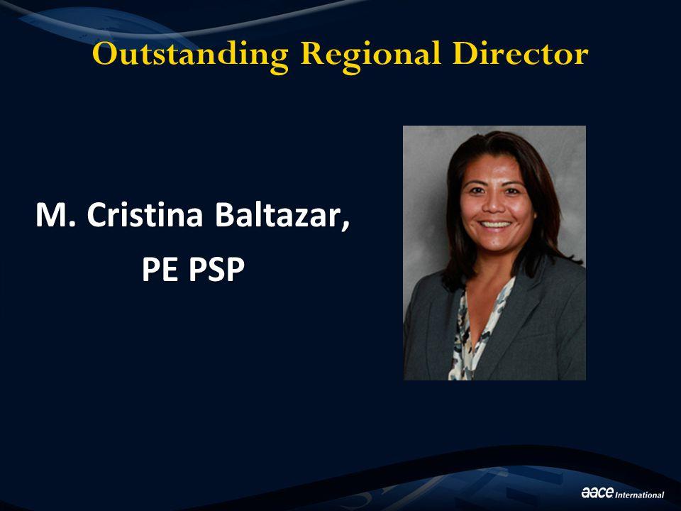 Outstanding Regional Director M. Cristina Baltazar, PE PSP
