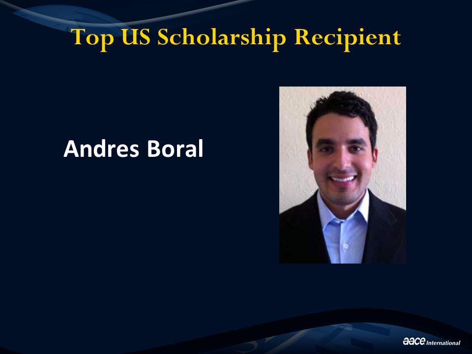 Top US Scholarship Recipient Andres Boral