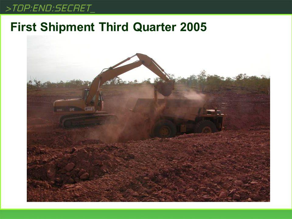 [ First Shipment Third Quarter 2005