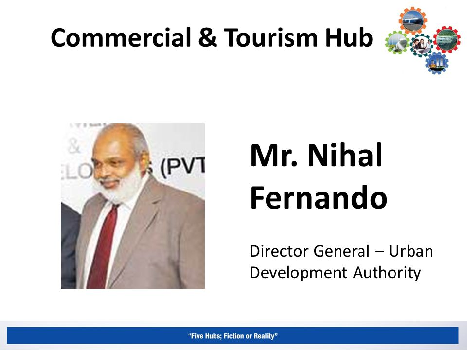 Commercial & Tourism Hub Mr. Nihal Fernando Director General – Urban Development Authority