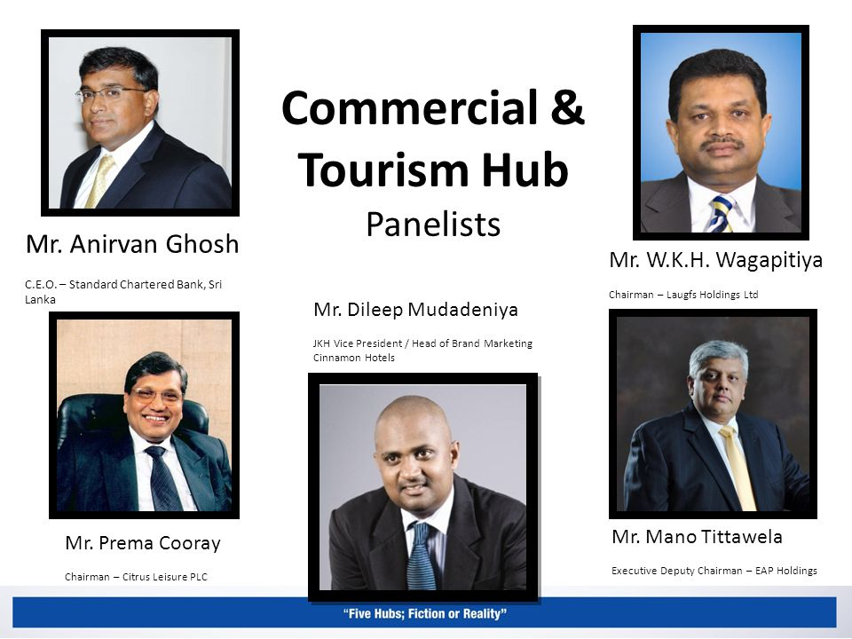 Commercial & Tourism Hub Panelists Mr. Anirvan Ghosh C.E.O.