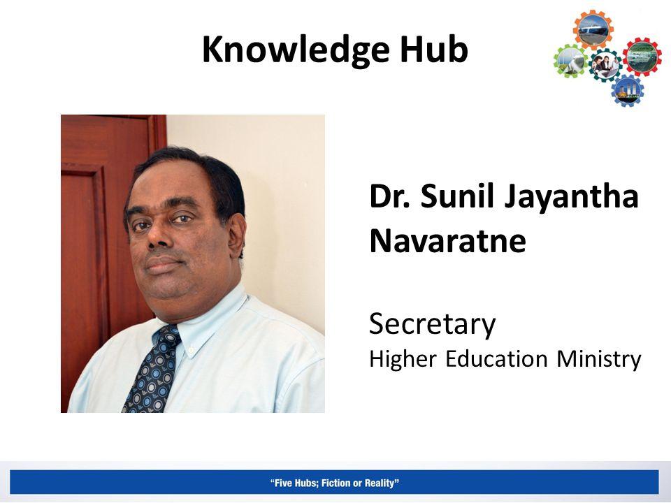 Knowledge Hub Dr. Sunil Jayantha Navaratne Secretary Higher Education Ministry