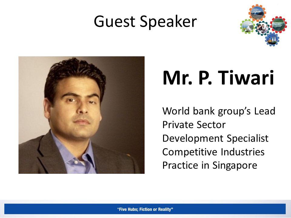 Guest Speaker Mr. P.