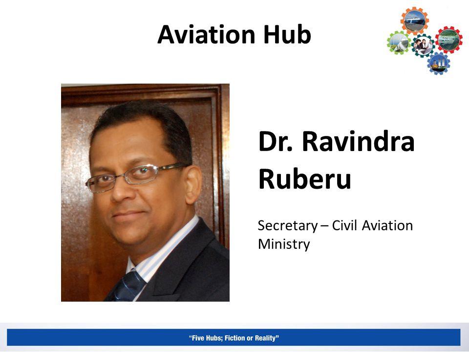 Aviation Hub Dr. Ravindra Ruberu Secretary – Civil Aviation Ministry