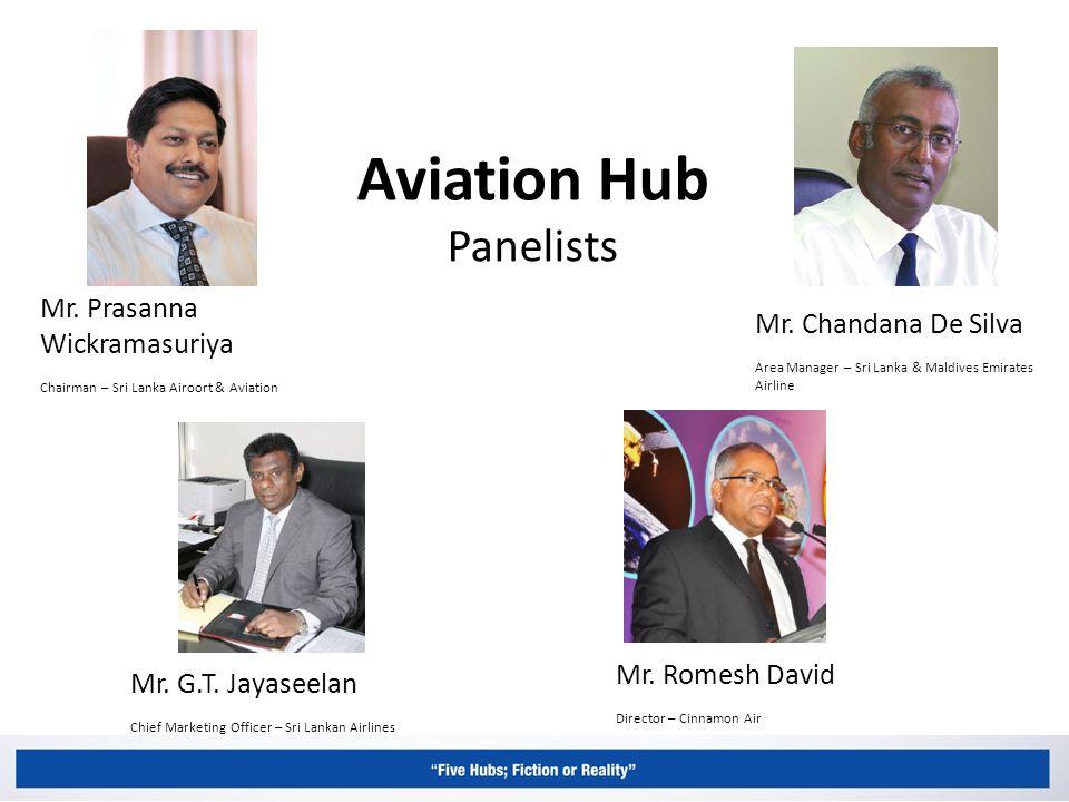 Aviation Hub Panelists Mr. Prasanna Wickramasuriya Chairman – Sri Lanka Airoort & Aviation Mr.