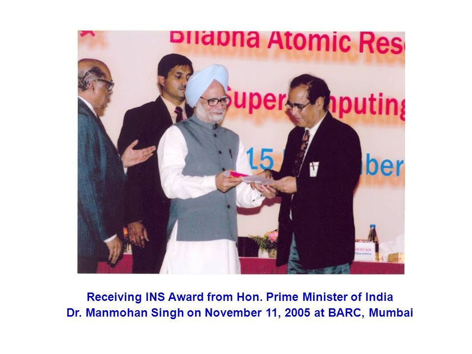 Receiving INS Award from Hon.Prime Minister of India Dr.